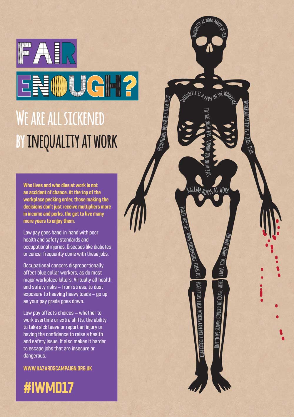 new graphic resources from the hazards campaign we are all sickened by inequality at work banner 2 working women at risk banner 3 racism hurts at work banner 4 the gig economy